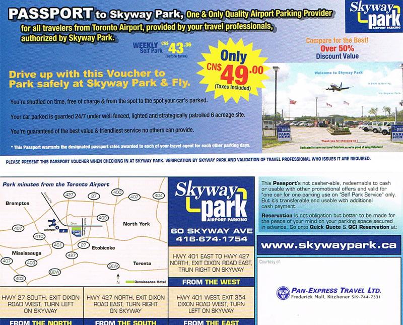 toronto airport authority parking coupon